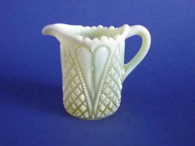 Davidson's Yellow Pearline Glass 'William and Mary' Jug c1905